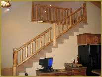 Custom Design Log Cabin Railing